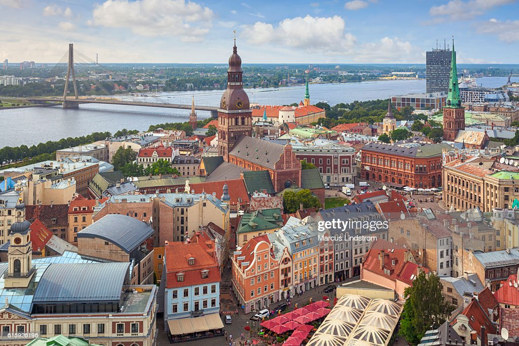 Riga, capital of Latvia : Stock Photo