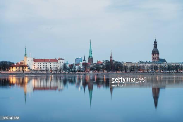 Riga in the evening