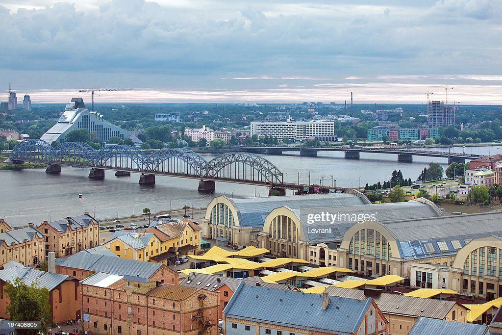 Riga, Latvia, cityscape from Academy of Sciences : Stock Photo