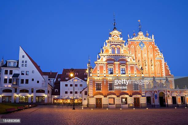riga, latvia - house of blackheads stock photos and pictures