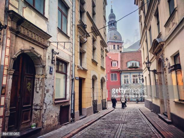 riga old town - latvia stock pictures, royalty-free photos & images