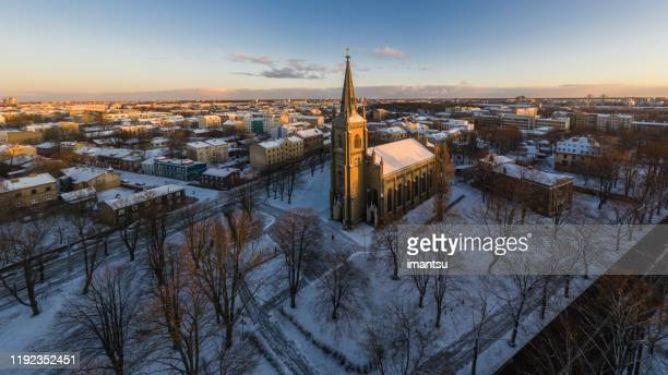 riga st. paul evangelical lutheran church - protestantism stock pictures, royalty-free photos & images