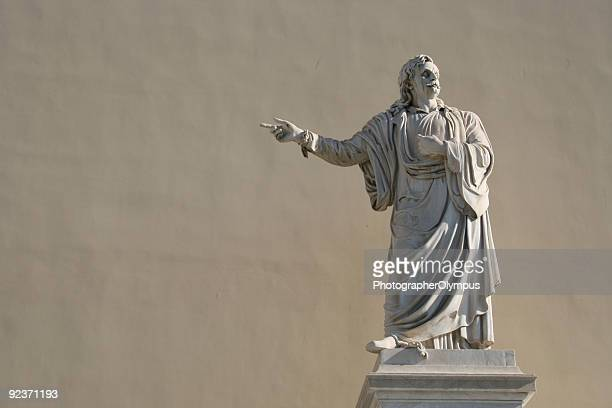 rigas fereos statue in athens greece - classical greek style stock pictures, royalty-free photos & images