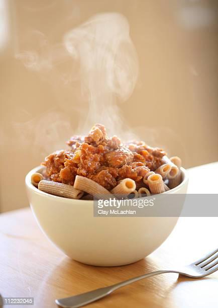 Rigatoni pasta with pork ragu