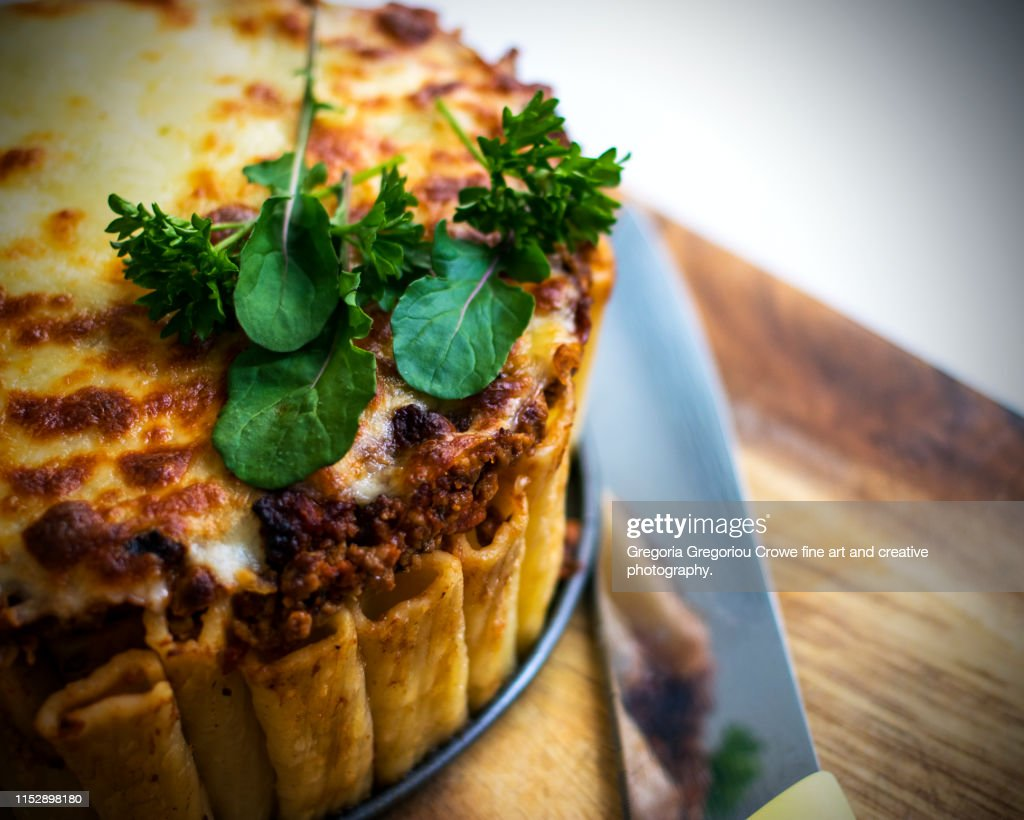 Rigatoni Pie : Stock Photo