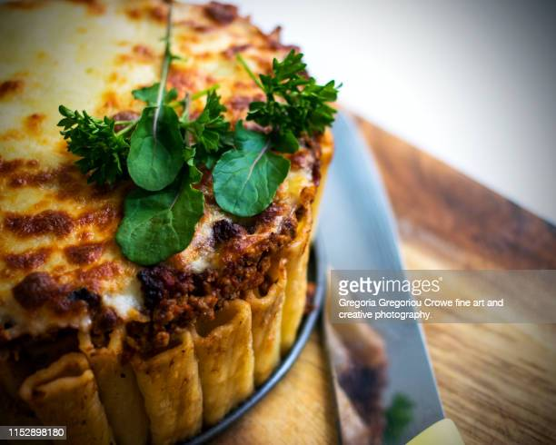rigatoni pie - gregoria gregoriou crowe fine art and creative photography. stock pictures, royalty-free photos & images