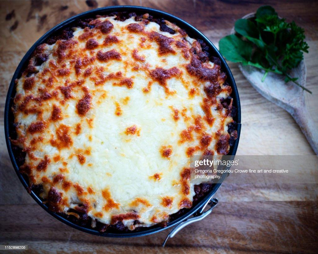Rigatoni Pie : Stock Photo