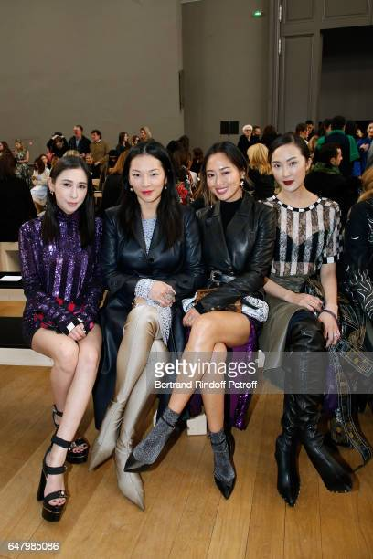 Rigel Davis Tina Leung Aimee Song and Chriselle Lim attend the Nina Ricci show as part of the Paris Fashion Week Womenswear Fall/Winter 2017/2018 on...