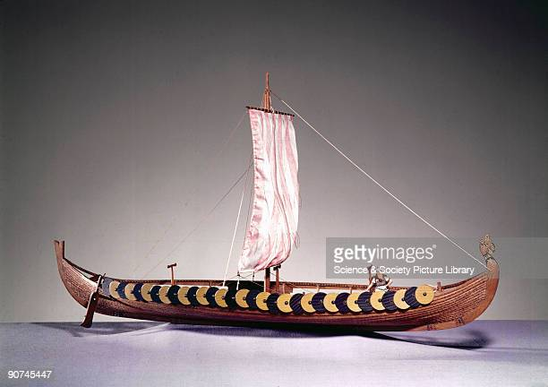 Rigged model of a ship found at Gokstad Norway in 1880 and now in Oslo The development of the dugout consisted of adding overlapping longitudinal...