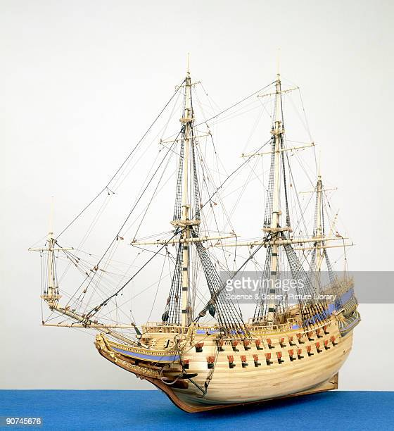 Rigged model . This Swedish 64-gun warship sank on her maiden voyage in 1628, 1500 yards from shore. The cause of her loss was lack of stability,...