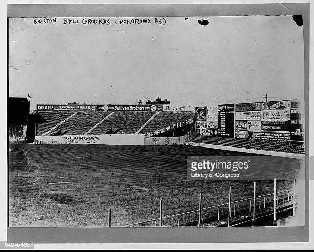 Right field of Boston's Fenway Park in September of 1912 the ballfield's first season