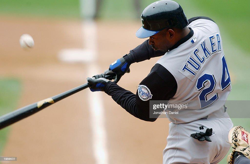 Michael Tucker swings the bat  : News Photo