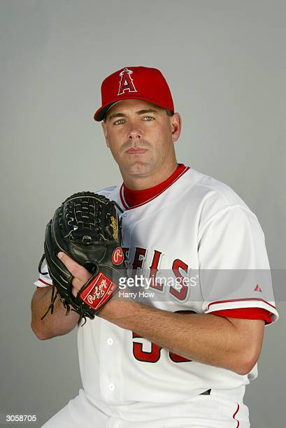 Right handed pitcher Brendan Donnelly the Anaheim Angels poses for a portrait during the 2004 MLB Spring Training Photo Day at Tempe Diablo Stadium...