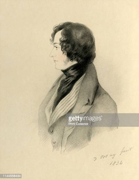 Right Honourable Benjamin Disraeli MP' 1834 Portrait of British Conservative statesman and writer Benjamin Disraeli later the Earl of Beaconsfield...