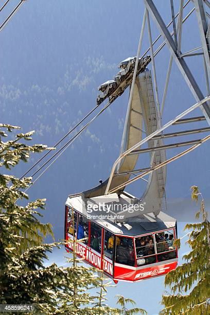 right over the edge - grouse mountain stock photos and pictures