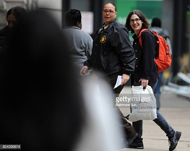 Right Sarah Koenig Serial producer who narrated the podcast about Adnan Syed arrives at Courthouse East for the second day of hearings on whether...