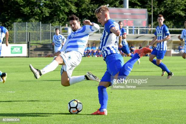 right Sinan Kurt of Hertha BSC during the test match between Hertha BSC and Club Italia Berlino on july 28 2017 in Berlin Germany