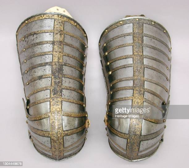 Right Thigh and Knee Defense for the armour of Sir John Scudamore , British, Greenwich, circa 1587. Artist Royal Workshops at Greenwich, Jacob Halder.