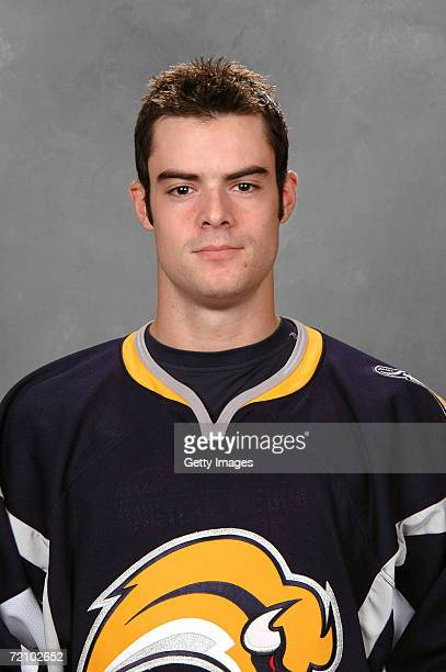 Right wing Drew Stafford of the NHL Buffalo Sabres poses for a portrait at HSBC Arena on September 14 2006 in Buffalo New York