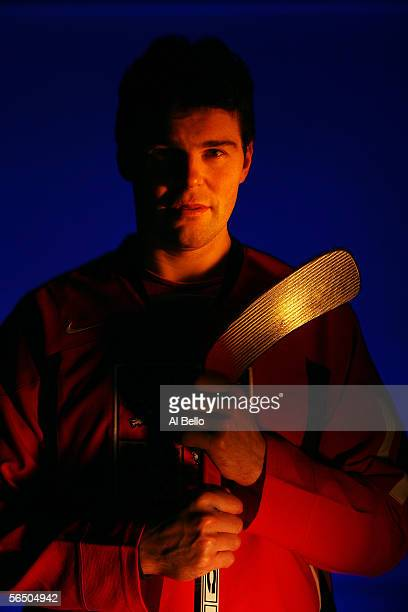 Right wing Jaromir Jagr of the New York Rangers poses for a portrait at The Rangers training complex in Tarrytown New York on December 29 2005 Jagr...