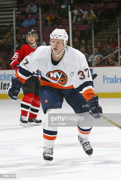 Right wing Mark Parrish of the New York Islanders on the ice during the game against the New Jersey Devils on December 10 2003 at Continental...