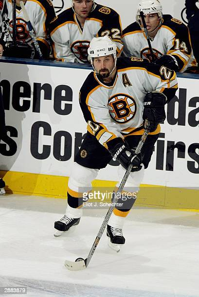 Right wing Martin Lapointe of the Boston Bruins in action against the Florida Panthers on December 10, 2003 at the Office Depot Center in Sunrise,...