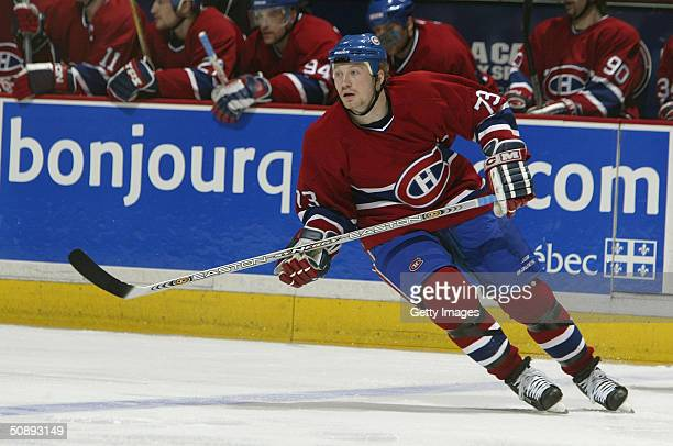 Right wing Michael Ryder of the Montreal Canadiens skates on the ice against the Boston Bruins during game six of the Eastern Conference...