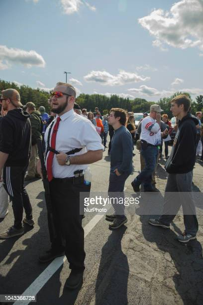 Right wing protesters came to the Open Carry rally with numerous guns and weaponsKaitlin Bennett a former student of Kent State University lead an...