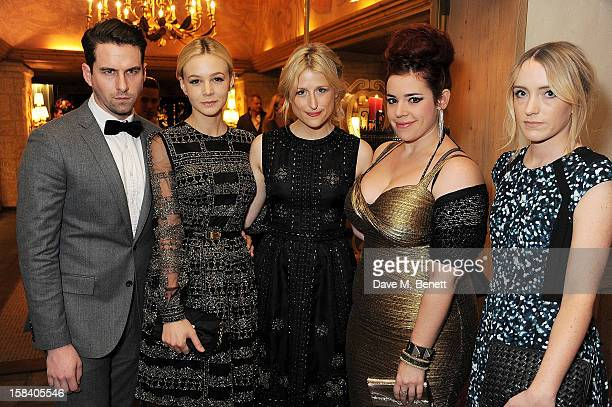 Rightor Doyle Carey Mulligan Mamie Gummer Alysha Umphress and Zoe Moss attend the ASMALLWORLD Gala Dinner for the Alzheimer's Society at The Gstaad...