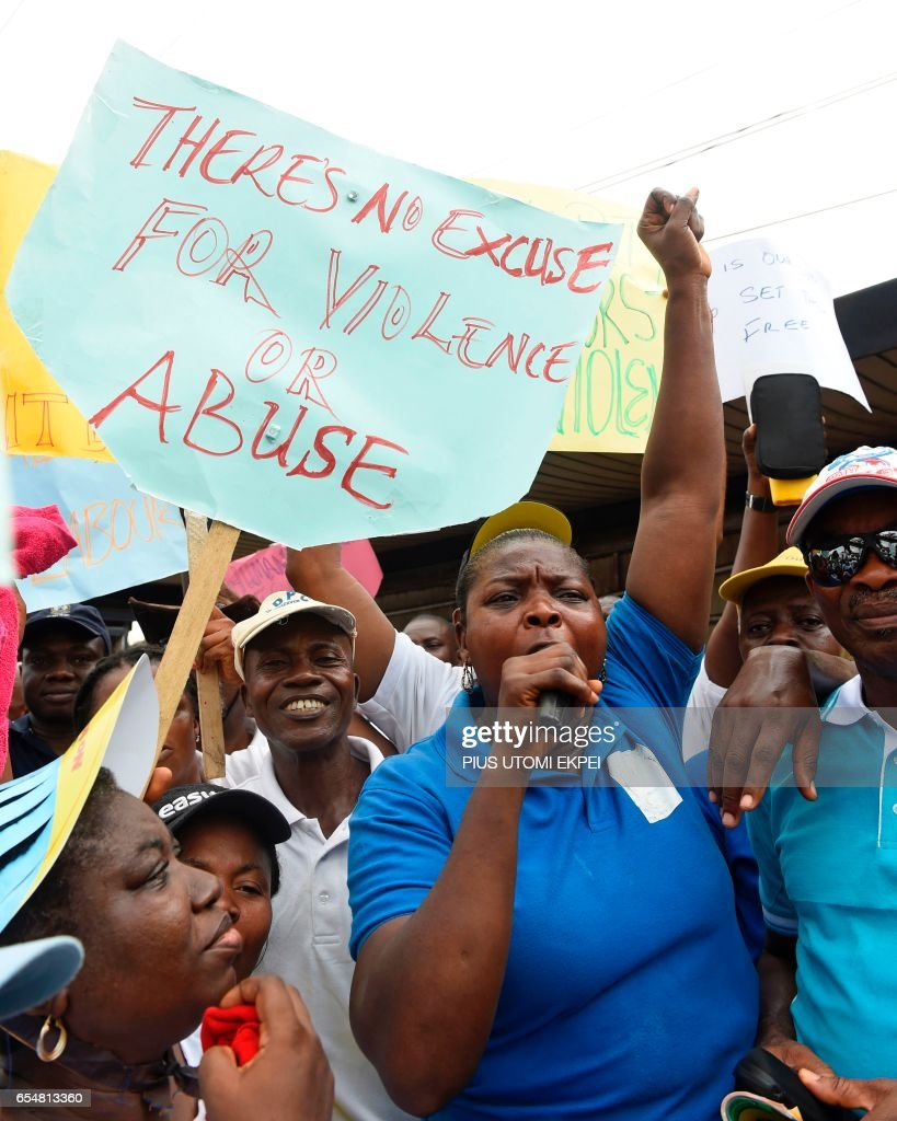 NIGERIA-SOCIAL-HUMAN RIGHTS-TRAFFICKING-VIOLENCE-DEMO : News Photo