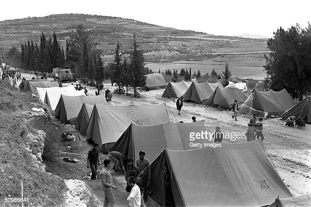 Rightwing Jewish settlers set up an encampment where they hope to build the first Jewish settlement in the Samaria which they called Alon Moreh...
