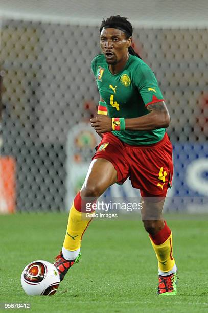 Rigobert Song of Cameroon in action during the African Nations Cup group D match between Cameroon and Zambia at the Tundavala National Stadium on...