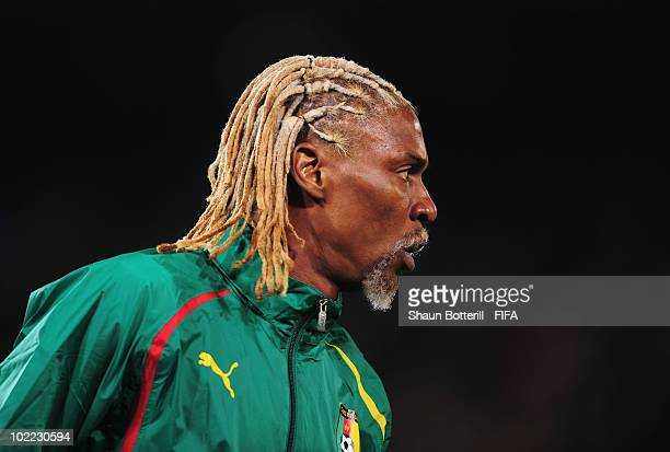 Rigobert Song of Cameroon looks on during the 2010 FIFA World Cup South Africa Group E match between Cameroon and Denmark at Loftus Versfeld Stadium...