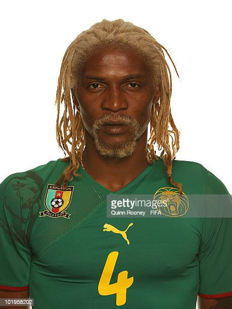 Rigobert Song of Cameroon poses during the official FIFA World Cup 2010 portrait session on June 10 2010 in Durban South Africa