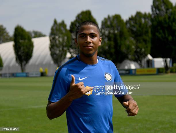 Rigoberto Rivas of FC Internazionale looks on during a training session at Suning Training Center at Appiano Gentile on August 3 2017 in Como Italy