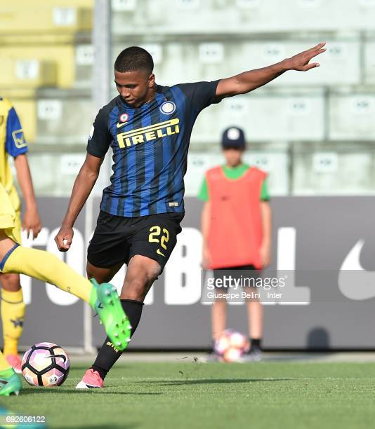 Rigoberto Rivas Vindel of FC Internazionale scores the goal 21 during the Primavera TIM Playoffs match between FC Internazionale and AC Chievo Verona...
