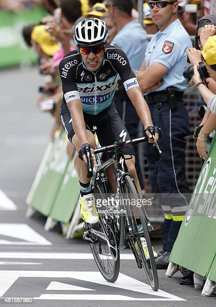 Rigoberto Uran of Colombia and EtixxQuick Step finishes third of stage seventeenth of the 2015 Tour de France a 161 km stage from DigneLesBains to...