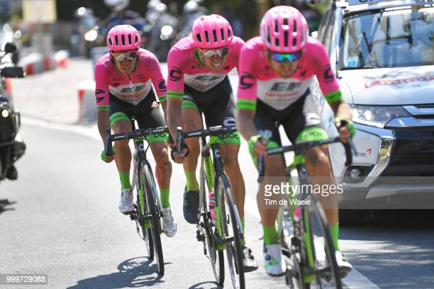Rigoberto Uran of Colombia and Team EF Education First Drapac / Sep Vanmarcke of Belgium and Team EF Education First Drapac P/B Cannondale / during...
