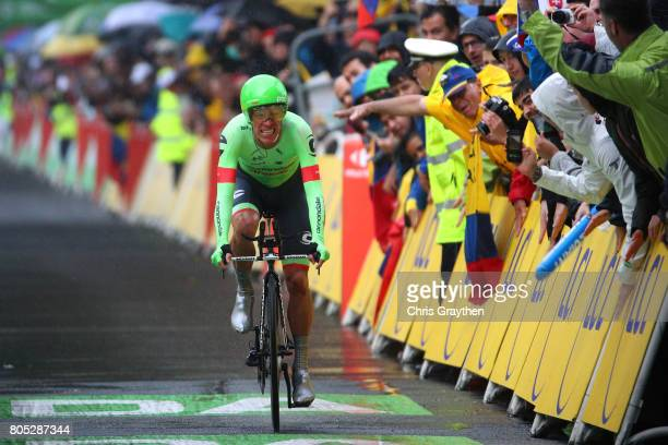 Rigoberto Uran of Colombia CannondaleDrapac crosses the finish line during stage one of Le Tour de France 2017 a 14km individual time trial on July 1...