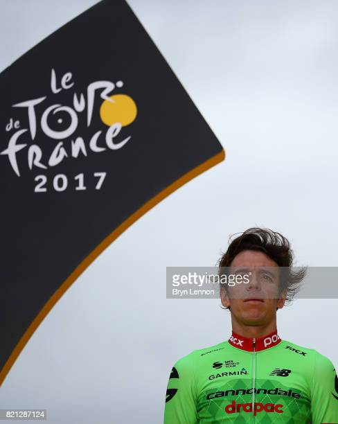 Rigoberto Uran of Columbia and Cannondale Drapac Professional Cycling Team looks on following stage twenty one of Le Tour de France 2017 on July 23...