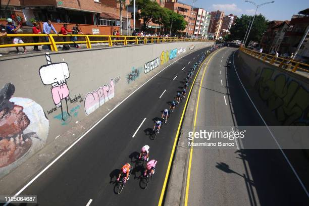 Rigoberto Urán of Colombia and EF Education First Pro Cycling Team Orange Leader Jersey / Daniel Martínez of Colombia and EF Education First Pro...
