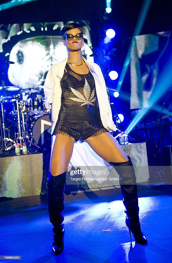 Rihana performs during her 777 tour on November 18, 2012 at E-Werk in Berlin, Germany.