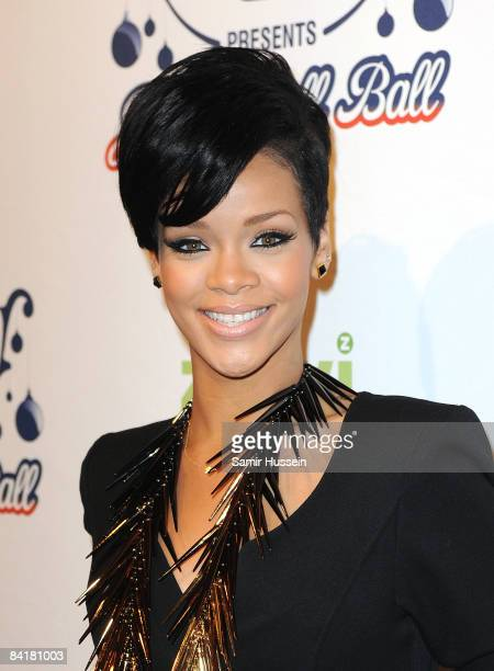 Rihana poses at The Jingle Bell Ball at the O2 Arena on December 10 2008 in London England