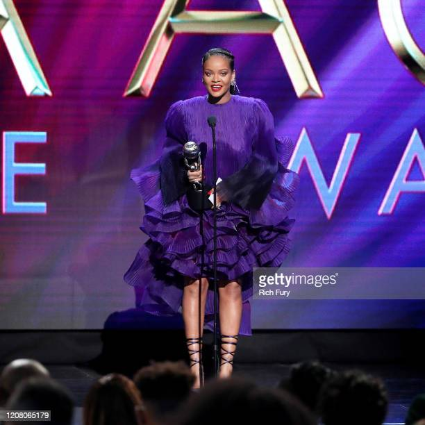 Rihanna accepts the President's Award onstage during the 51st NAACP Image Awards Presented by BET at Pasadena Civic Auditorium on February 22 2020 in...