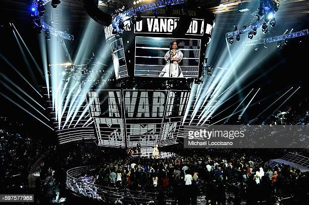 Rihanna accepts the Video Vanguard award onstage during the 2016 MTV Music Video Awards at Madison Square Gareden on August 28, 2016 in New York City.