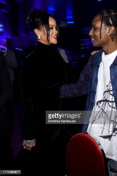 Rihanna and A$AP Rocky attend Rihanna's 5th Annual Diamond Ball Benefitting The Clara Lionel Foundation at Cipriani Wall Street on September 12 2019...