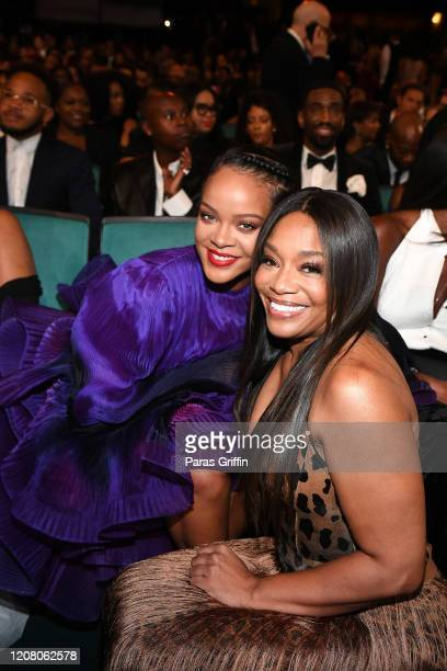 Rihanna and BET Networks' Specials Music Programming Music Strategy EVP Connie Orlando attend the 51st NAACP Image Awards Presented by BET at...