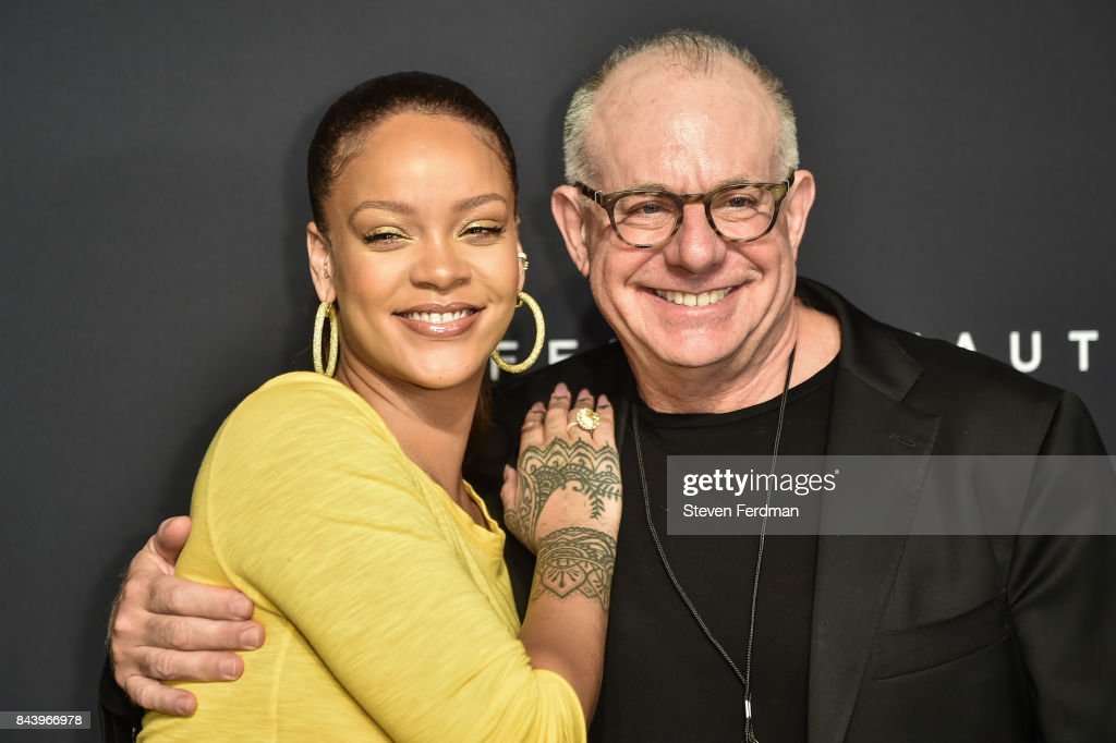Rihanna and David Suliteanu attend Fenty Beauty by Rihanna Launch on September 7, 2017 in the Brooklyn borough of New York City, New York.