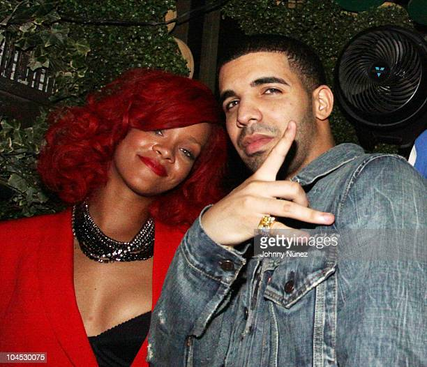 Rihanna and Drake attend Drake's after party at Greenhouse on September 28 2010 in New York City