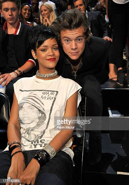 Rihanna and Harry Styles attend the 2013 MTV Video Music Awards at the Barclays Center on August 25, 2013 in the Brooklyn borough of New York City.